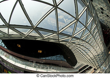 Modern Architecture - The ceiling of the myZeil shopping...