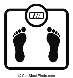 Floor scales icon, simple style - Floor scales icon. Simple...