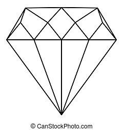 Diamond icon, outline style