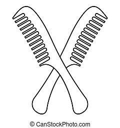 Combs icon, outline style