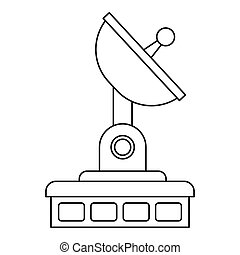 Satellite communication station icon outline style