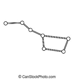 Big dipper constellation icon, outline style