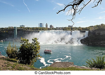 Niagara falls, American falls. - A view of the American...