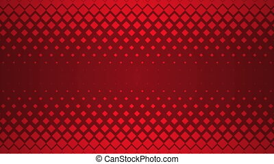 Repeating Red Square Pattern Design Background.