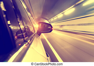 moving fast in tunnel