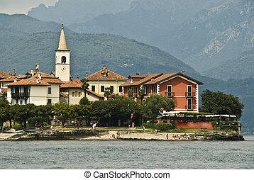 pescadores,  lago, islas,  Maggiore