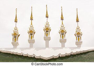 Thai gable apex with sky