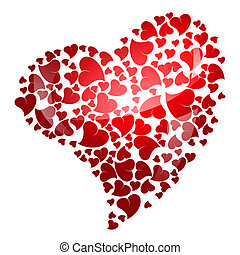 red heart for valentine's day