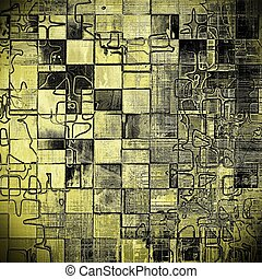 Geometric weathered grunge elements on vintage texture for...