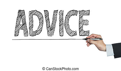advice written by hand