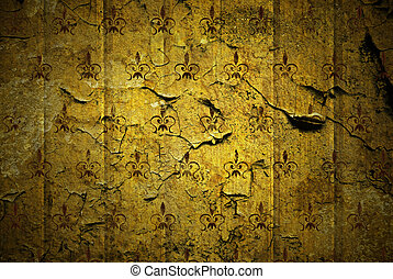grunge old-style yellow background
