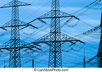 Power lines - power lines for electricity transport