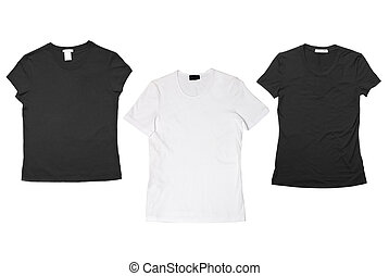 t-shirts isolated on white