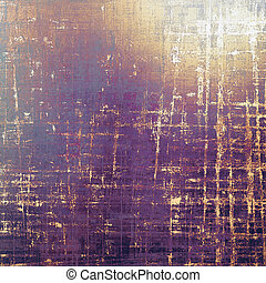 Scratched background with retro style overlay. Aged texture...