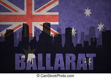 abstract silhouette of the city with text Ballarat at the...
