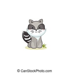 Raccoon - Cute Raccoon vector design