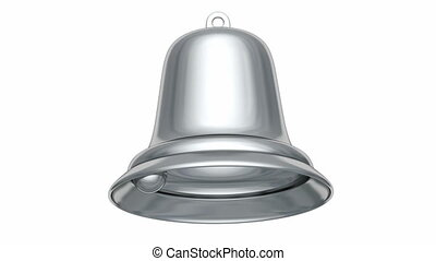 3D animation of the Christmas bell - Silver Christmas bell...