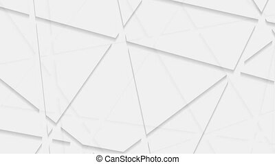 Abstract grey corporate polygonal video animation - Abstract...