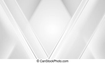 Abstract light grey polygonal triangles video animation -...