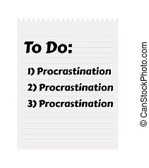 to-do-procrastination-1 - Paper with To Do list and...