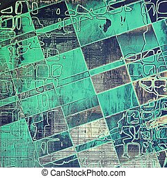 Geometric grunge texture, aged or old style background with...