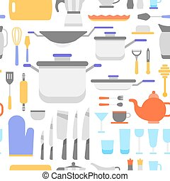 Kitchen tools collection pattern - Kitchen tools collection,...