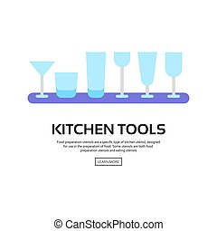 Kitchen tools collection, vector illustration with icons