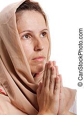 orando, mulheres