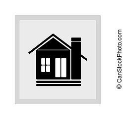 Home Icon - Beauty Home With Car Icon,illustration art...