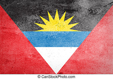 Grunge of Antigua and Barbuda Flag