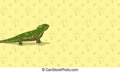 Iguana. English ZOO Alphabet - letter I - Animated English...