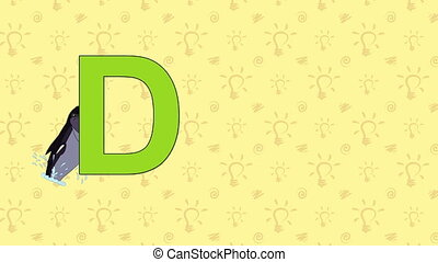 Dolphin. English ZOO Alphabet - letter D - Animated English...