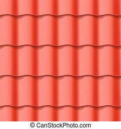 Tiled roof seamless pattern