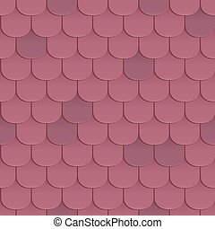Shingles roof seamless pattern. Violet color. Classic style....