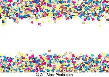 colorful confetti in broad bordure - colourful confetti for...