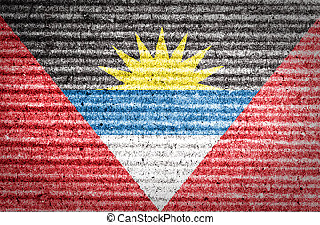 Antigua and Barbuda Flag on cardboard box