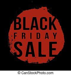 Black Friday sale vector grunge round stamp