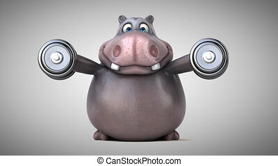 Fun hippo - 3D Animation