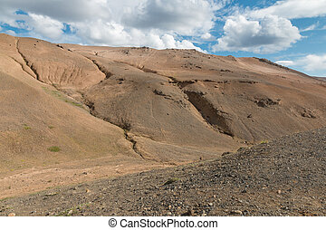 Krafla Desert Mountains - Desert-like landscape above Hverir...