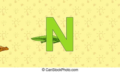 Newt. English ZOO Alphabet - letter N - Animated English...