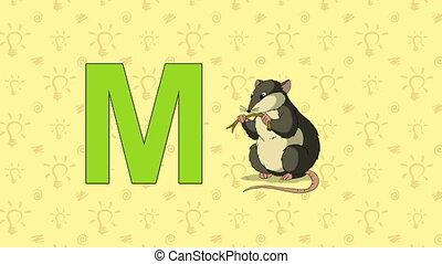 Mouse. English ZOO Alphabet - letter M - Animated English...