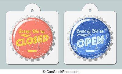 open closed caps
