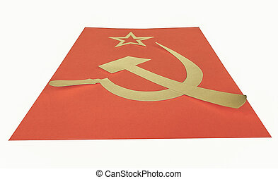 Vintage looking CCCP Flag - Vintage looking Communist CCCP...