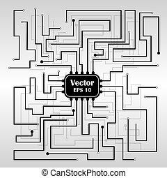 Vector background with circuit board