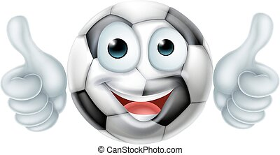 Cartoon Soccer Ball Man Character - A happy cartoon soccer...
