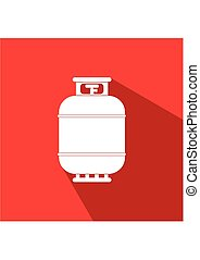 Gas3-01.eps - Gas tank icon in flat style. Propane cylinder...