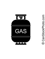 Gas2-01.eps - Gas tank icon in flat style. Propane cylinder...