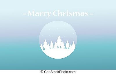 Merry Christmas spruce of silhouettes