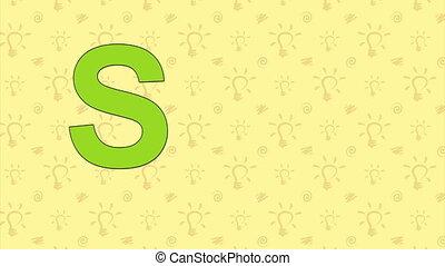 Squirrel. English ZOO Alphabet - letter S - Animated English...