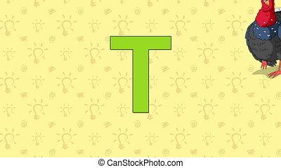 Turkey. English ZOO Alphabet - letter T - Animated English...